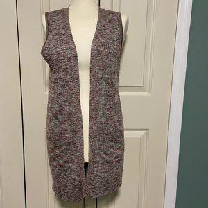 Spense sleeveless cardigan knit sweater